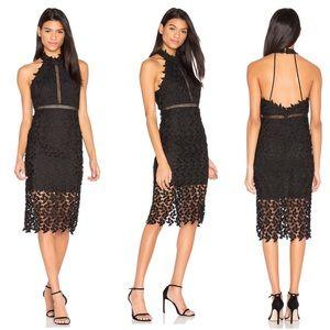 NWOT Bardot Black Lace Midi Dress